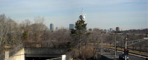 View from Arboretum Place, Jamaica Plain